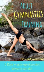 Adult gymnastics training workouts and 5 easy gymnastics warm-ups