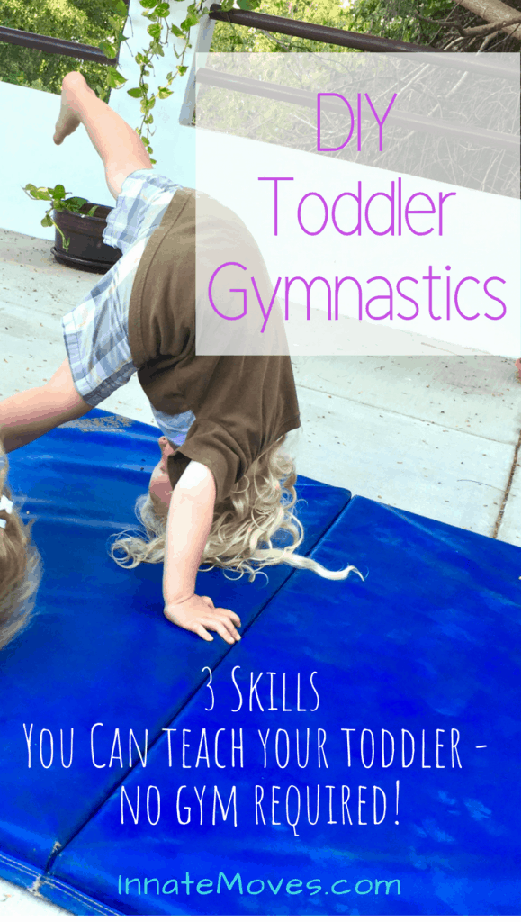 DIY toddler gymnastics