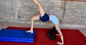adult gymnastics workout, backbends and bridges