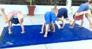 kids gymnastics, toddler gymnastics at home