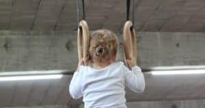 Kids Gymnastics Equipment - Child on Gymnastics Rings