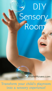 DIY Sensory Room. Sensory room ideas - toddler playroom ideas - kids playroom ideas - sensory gym equipment