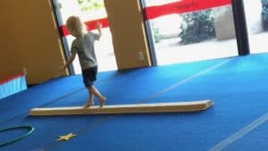 Kids Gymnastics Equipment - Child on Balance Beam - Gymnastics Beam for Home