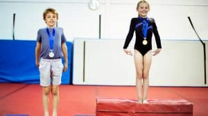 competitive gymnastics or recreational gymnastics - pre-team gymnastics, Xcel gymnastics, artistic gymnastics, rhythmic gymnastics, acrobatic gymnastics